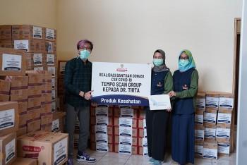 Realisasi Bantuan Donasi CSR COVID-19 Tempo Scan Group Kepada Dr. Tirta